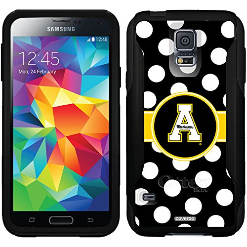 Appalachian State Polka Dots Design On A Black Otterbox® Commuter Series® Case For Samsung Galaxy S5