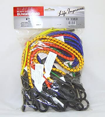"24 Life Improver Heavy Duty Bungee Cords 13"" - 30"" Elasticated Strap from LIFE IMPROVER"