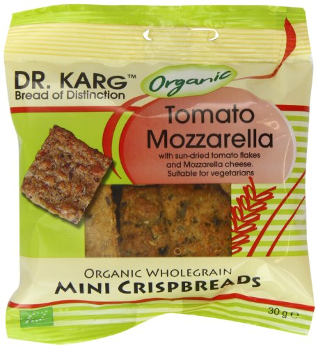 Dr Karg Organic Tomato Mozzarella Wholegrain Mini Crispbread 30 g (Pack of 20)