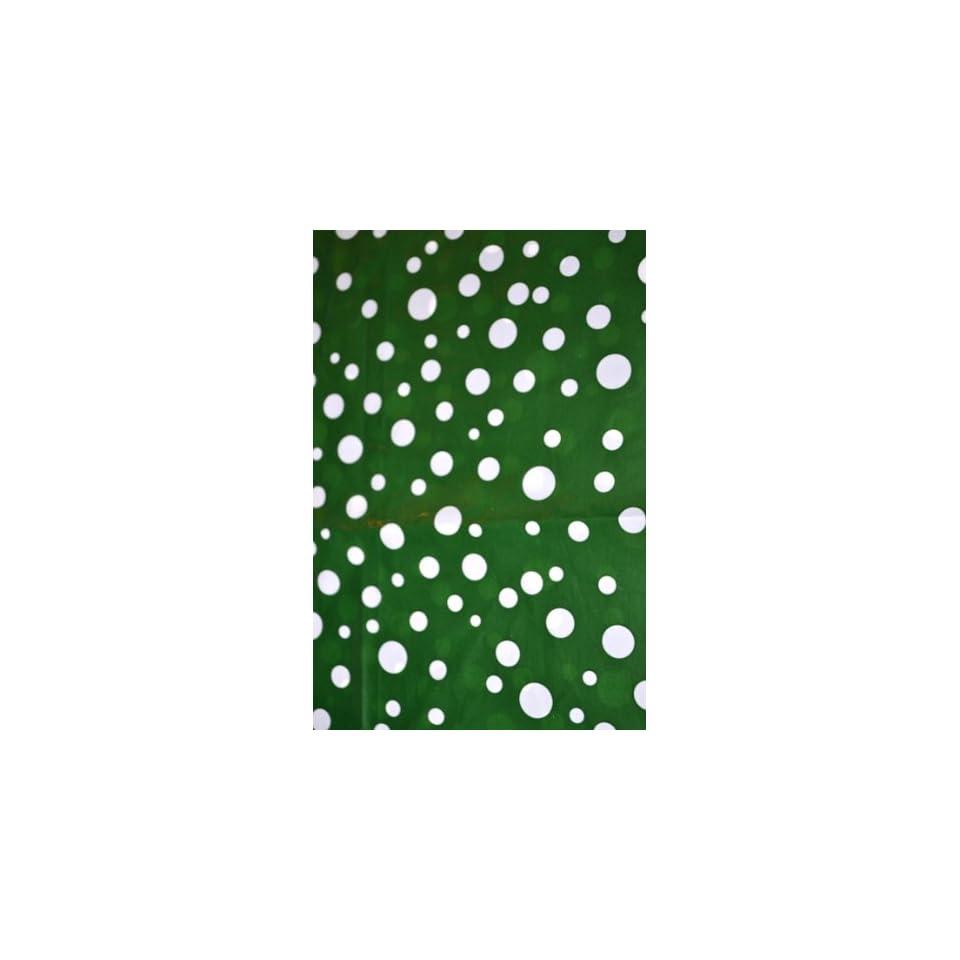 Dark Green Polka Dot Home Decor Designerliners Trash Bags   Stylish Pretty Decorative Biodegradable Garbage Bags   100 Bag Bulk Pack   5 6 Gallon Size   17.75 X 19   Made in USA