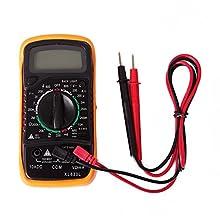 HDE Digital LCD Multimeter Voltmeter AC DC Handheld Tester Tool