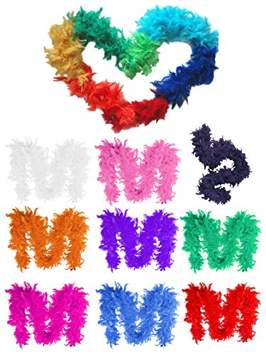 HnB Rainbow Pride Parade 78 Inch Costume Artificial Feather Boa