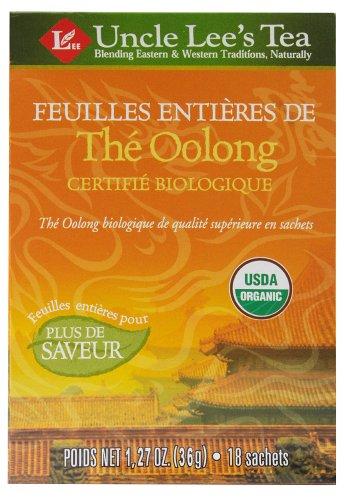 Uncle Lee'S Tea - Whole Leaf 100% Organic Oolong Tea - 18 Tea Bags