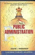 Public Adminstration by Avasthi