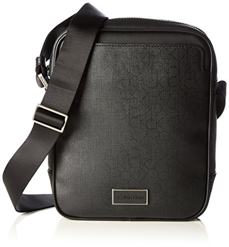 Calvin Klein JeansPOWER CK REPORTER - Borsa a tracolla Uomo , Nero (Schwarz (BLACK 001 001)), 27x23x7 cm (B x H x T)