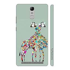 Enthopia Designer Hardshell Case Giraffe Love Back Cover for Lenovo Vibe K5 Note