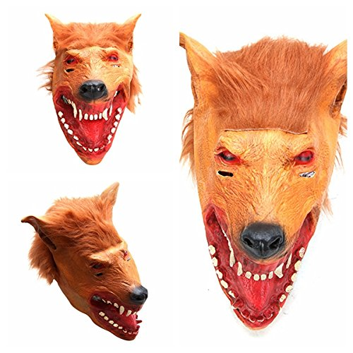 Creepy Wolf Mask per Halloween Horror Devil Dances