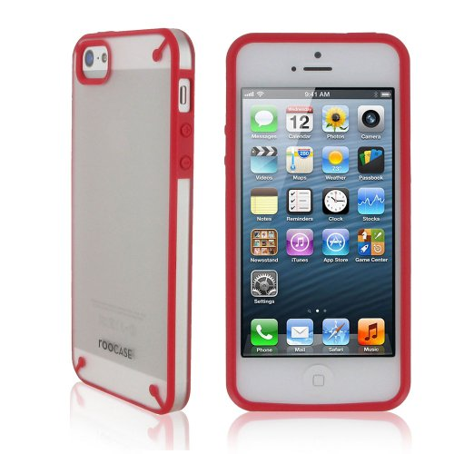 rooCASE Fuse (Frost / Red) Shell Snap-On Case for Apple iPhone 5 (Newest iPhone Sept 2012)