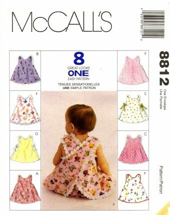 Mccall'S 8812 Sewing Pattern Infants Criss Cross Back Tops Panties front-886166