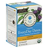 Traditional Medicinals Detox Tea, Organic, EveryDay Detox, Lemon, Caffeine Free, 16 tea bags 0.85 oz (24 g)