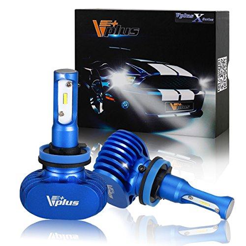 Vplus X Series LED Headlight Bulbs w/ Clear Arc-Beam Kit - H8 H11 H9 72W 8,000LM 6500K White Seoul w/ No Fan All in One Headlamp LED Conversion Replace HID & Halogen - 1 Yr Warranty - (2pcs/set) (07 Bmw 335i Spark Plug Socket compare prices)