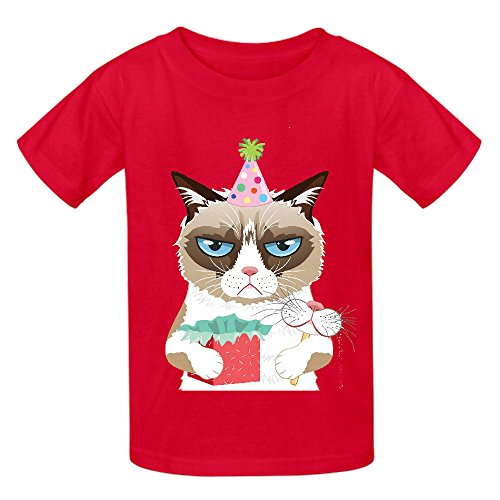 Grumpy Cat Bct Teen Crew Neck Personalized T-shirt Red