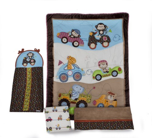 Kids Line 2101BED Road Rally Crib Bedding Set, 4-Piece