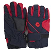 Kids/Childrens Extra Warm Thermal Padded Ski Gloves with Palm Grip