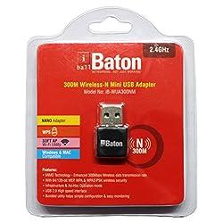 iBall Baton 300M Wireless-N Mini USB Adapter iB-WUA300NM