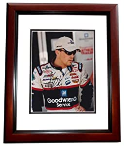 Kevin Harvick Autographed Hand Signed Racing 8x10 Photo MAHOGANY CUSTOM FRAME by Real Deal Memorabilia