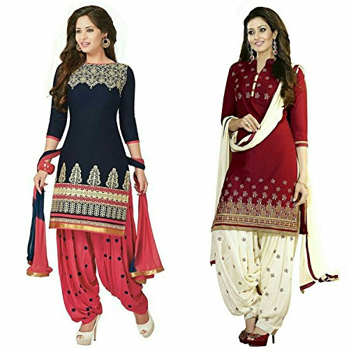 S.B CREATION Women\'s Printed Unstitched Regular Wear Salwar Suit Dress Material (Combo pack of 2)(bannosweet_freesize)
