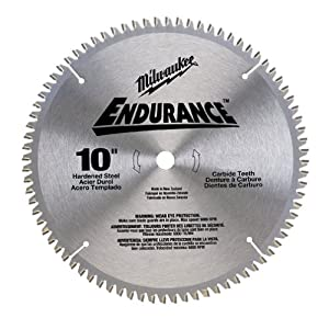 Milwaukee 48 40 4168 endurance 10 inch 80 for 10 inch table saw blades