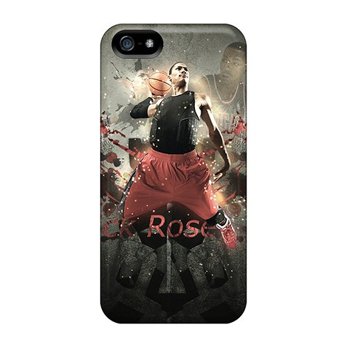 New Style Casepete Hard Case Cover For Iphone 5/5S- Derrick Rose