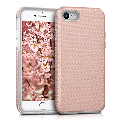 kalibri-Armor-Schutzhlle-fr-Apple-iPhone-7-Hybrid-Dual-Layer-TPU-Silikon-Schale-und-PC-Case-in-Rosegold