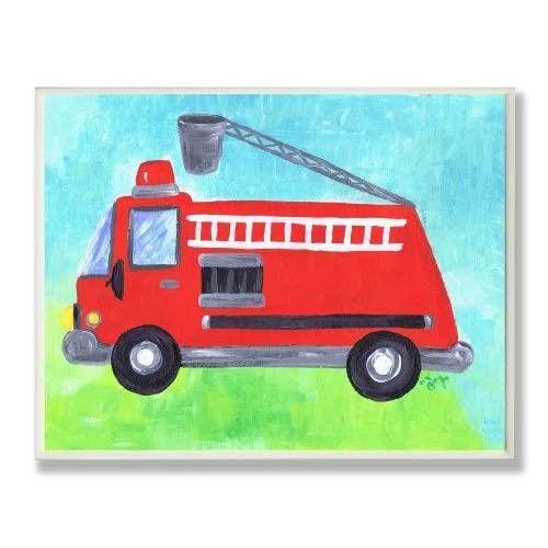 The Kids Room Fire Truck with Bucket Wall Plaque: Baby
