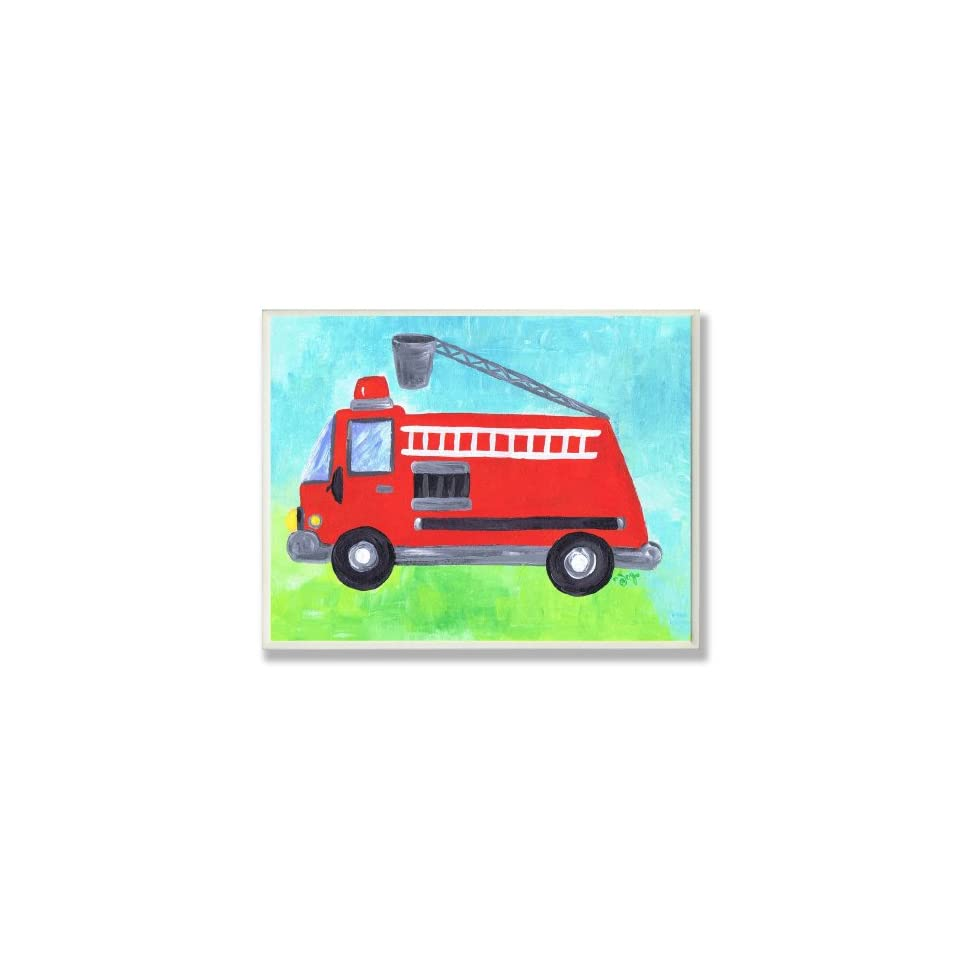 The Kids Room Fire Truck with Bucket Wall Plaque Baby
