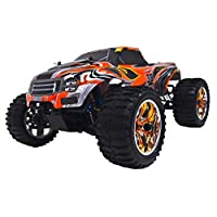 ALEKO® 94111PRO 4WD Brushless Electric Powered Off-Road RC PRO Monster Truck, Orange 1/10 Scale
