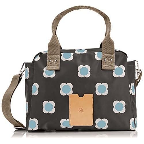 Orla Kiely Women's Flower Spot Zip Bowling Bag
