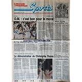NOUVELLE REPUBLIQUE SPORT (LA) [No 110] du 02/04/1990 - FOOT / OM - NIORT - TOURS - TOUR DES FLANDRES / MORENO...