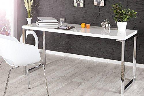 Design-Schreibtisch-WHITE-DESK-140cm-hochglanz-weiss-Tisch-Chromgestell