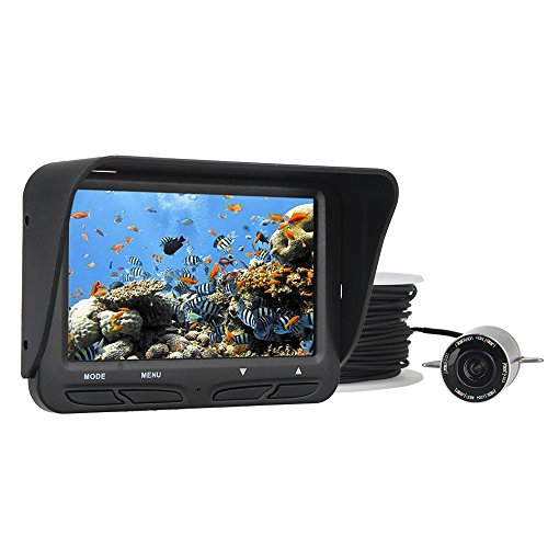 "Seesii 30m 4.3"" LCD 氷 フィッシュファインダー 水中 カメラ インストール簡単 魚群探知機"