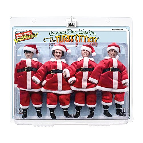 The Three Stooges 8 Inch Action Figures: Christmas Time With The Three Stooges Holiday Four-Pack