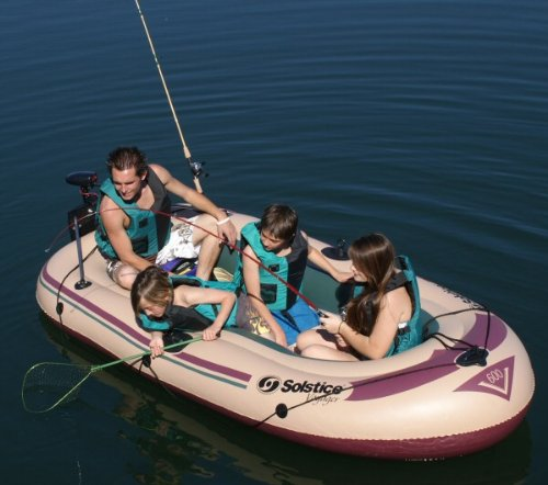 Image of Inflatable Solstice Voyager 5 Person Fishing Boat (B005288VPG)