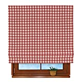 FRANC Textile Padva 340-136-16 Roman Blind 100 x 170 CM Red / ecru