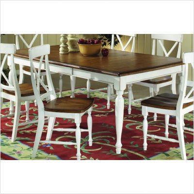 Woodbridge Home Designs 715 Series Dining Table In Distressed White
