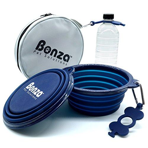 bonza large collapsible dog bowls twin pak 42oz 7 diameter portable dog water bowls for. Black Bedroom Furniture Sets. Home Design Ideas