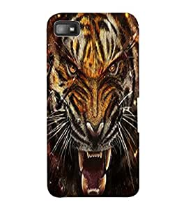 ColourCraft Roaring Tiger Design Back Case Cover for BLACKBERRY Z10