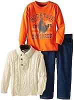 Little Rebels Little Boys' 3 Piece Mountain Explorer Sweater And Pant Set