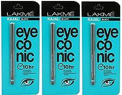 Lakme Eyeconic Kajal (Pack Of 3)