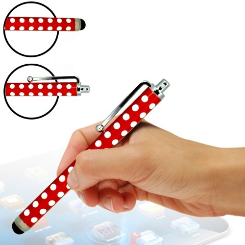 ONX3 Alcatel One Touch Star 6010d Polka Aluminium kapazitiver Stylus (Red)