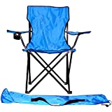 VMI Folding Chair with Cupholder, Blue