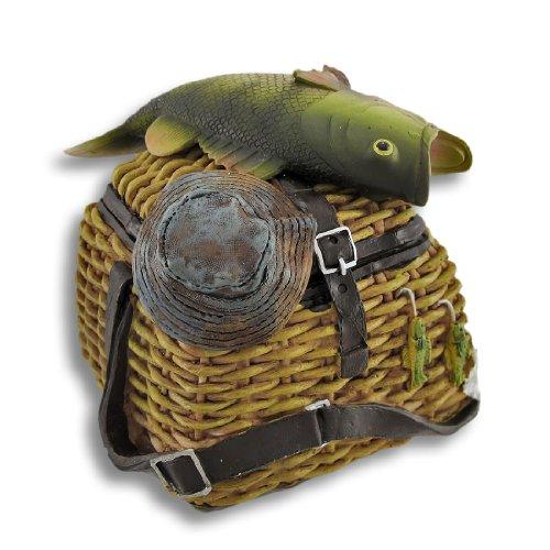 Fishing Creel Coin Bank w/ Hidden Slot