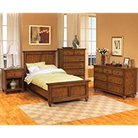 Homestyles Canopy Oaks Bedroom Set - Twin 4 Pc