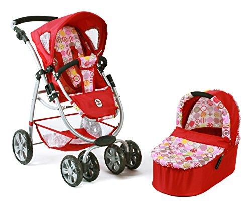 631 10 - Kombi-Puppenwagen Bellina 2-in-1, ruby rot