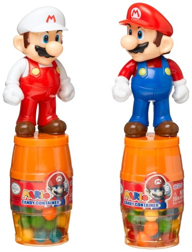 Au'some Candy Mario Barrel Candy Container, 1.34-Ounce Packages (Pack of 12)
