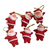 Pragati Pro Christmas Tree Decoration Hanging Santa(pack Of 6, Red)