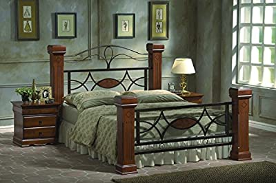 Omega Wood Post and Metalwork Bed Frame - available in double and kingsize (Double)