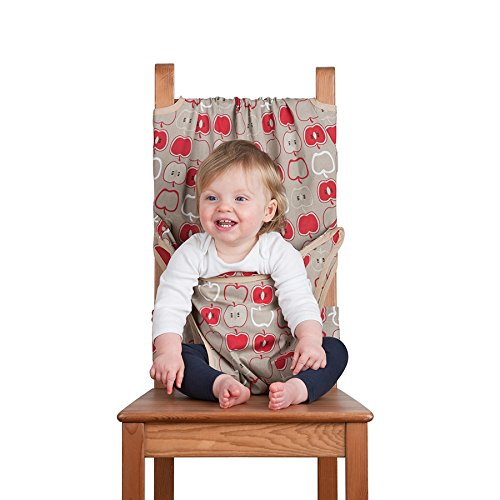 Totseat Chair Harness: The Washable and Squashable Travel High Chair in Apple