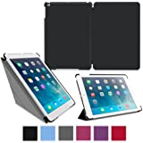 roocase iPad Air Case - Slim Shell Origami Folio Case Smart Cover for Apple iPad Air 1 2013 5th Generation (Previous Model) - Auto Sleep/Wake Feature), BLACK