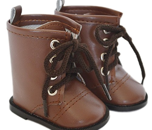BROWN TIE BOOTS FOR AMERICAN GIRL DOLLS - 1